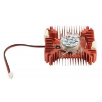 Heat Sink with 12V Cooling Fan 55mm for VGA or LED Gold