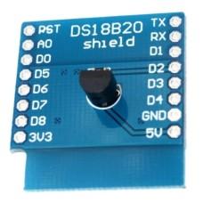 ESP8266 WeMos D1 Mini DS18B20 Temperature Shield [2L07]