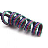 RGB 4 Pin Flexible Copper Tinned Cable Wire 10cm Piece