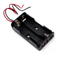 Battery Holder AA x2 Black with Wires [4L31]