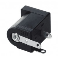 DC Female Plug 5.5mm x 2.1mm Panel Mount Connector [1Lxx]
