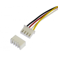 Connector 4pin 2.54mm Male + Female Set 150mm Wire