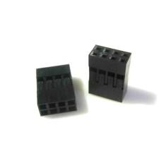 Dupont Jumper Housing Female Plastic 4x2Pin (ea) [1L121]