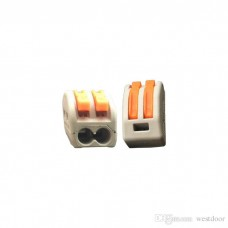 Spring Lever Terminal Block Cable 2 Wire Connector [1L06]