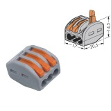 Spring Lever Terminal Block Cable 3 Wire Connector [1L05]