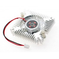 Heat Sink with 12V Cooling Fan 55mm for VGA or LED