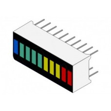 LED Bar Display Flat 10 Grid 2R 3Y 4G 1B [F23]