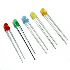 LED 3mm Diffused 60mW Various Colours [fs..]