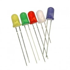 LED 5mm Diffused 60mW Various Colours