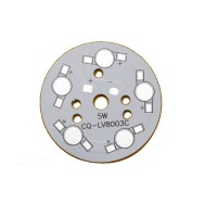 LED Back Plate 5W for 5x 8mm 1W LEDs [1L162]