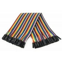 Dupont Wire Color Jumper Cable 2.54mm 1P-1P Female-Female 10cm (each)