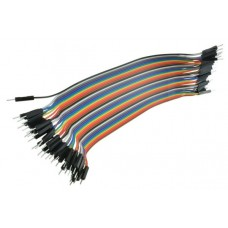 Dupont Wire Color Jumper Cable 2.54mm 1P-1P Male-Male 20cm (each)