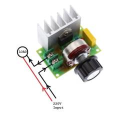 220V AC Light Dimmer TRIAC Motor Speed Controller 3000W