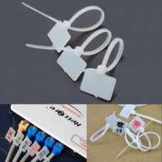 Marking Tag Nylon Zip Cable Tie Label Strap (10 pack)