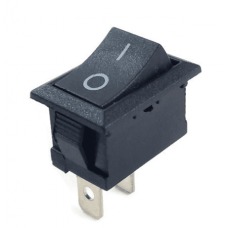 Switch Rocker 20mm 250V 6A SPST KCD1 (BLACK) [1L113]