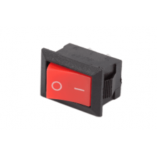Switch Rocker 20mm 250V 6A SPST KCD1 (RED/BLACK) [1L111]