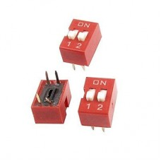 Switch Slide DIP 2 Row 4 Pin 2.54mm (ea) [1L133]