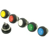 Switch Push Button Momentary Small Round SPST - Select Colours [xx]