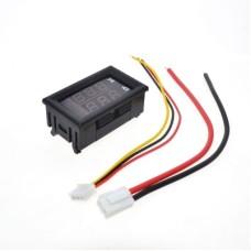 Digital Voltmeter Ammeter 100VDC 10A Dual Display Gauge 0.28 Red Blue LED [4Lxx]