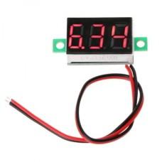 Voltmeter DC 4.5-30V Red LED (2 wire) [1Lxx]